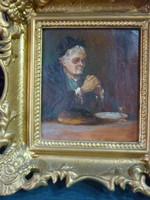 Asztali áldás - festmény