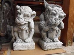 Ritkaság ! Kapu Őrző sárkány kutya Fagyálló Műkő szobor mitológiai  állat