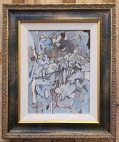 Audrey Skoudas absztrakt festmény 30x23 cm