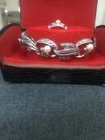 Ezüst karkötő és gyűrű