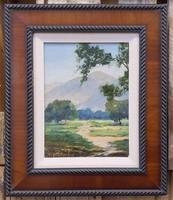 Hazel Morley amerikai tájképfestő olajképe (29x23)