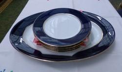 Zsolnay sötétkék tányérkészlet. Teljesen új.