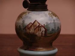 Francia kézzel festett petróleum lámpa ritkaság
