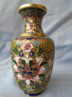 A large CLOISONNE  hu-form vaze qing dynasty 1889 -early 19 th.