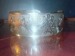 Páva mint. Tibeti ezüst Karkötő