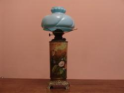 Kézzel festett antik petróleum lámpa