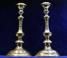 Magas ezüst gyertyatartó pár