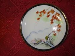 Japán porcelán teáscsésze alátét, átmérője 13,2 cm.