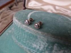 Brilles antik arany buton fülbevaló pár