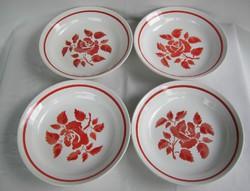 Gránit kerámia rózsás tányér 4 db