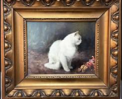 Heyer Artúr-Fehér macska Bohóccal (1872-1931)