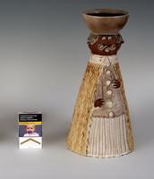 Kis Roóz Ilona - Nagy méretű figurális mécsestartó