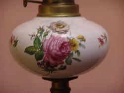 Hatalmas antik porcelán petróleum lámpa