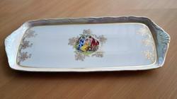 Cseh kézzel festett porcelán süteményes tálca