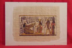 Egyiptom II. - Szépen elkészített tipikus egyiptomi, királyokat ábrázoló színezett nyomat