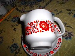 Alföldi retro porcelán kiöntő+ tálka