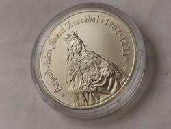 Árpádházi Szt Erzsébet ezüst 5000 Ft 31,46 gramm 0,925