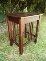 Antik tömör fa szecessziós kis asztalka / tálaló asztalka / geridon 1910 környékéről