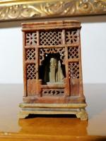 Régi Ázsiai faragott ásvány konfuciusz szobor (Ér-552)