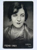 FEDÁK SÁRI, HALMI FOTÓ 1920 KÖRÜL, POST CARD, KÉPESLAP (9X14 CM) EREDETI