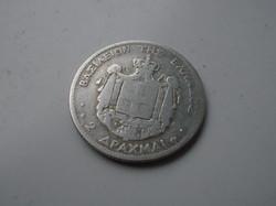 Görög 2 drachma 1873