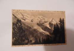 Sopron helytörténeti ritkaság képeslap Mont Blanc Horthy