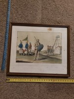 Giovanni Bigatti festménye, akvarell/akvatinta, 1800-as évek elejéből
