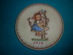 Hummel kislány figurás fali tányér 19cm 1976