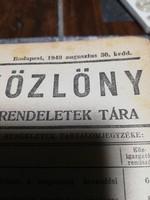 Magyar közlöny 1949/ Magyar közlöny 1991 könyvek.