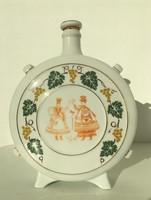 Hollóházi porcelán kulacs Miskolc