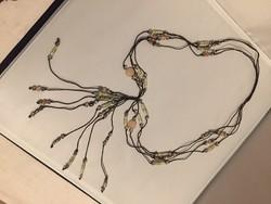 Hosszú nyaklánc kristályokkal (N)
