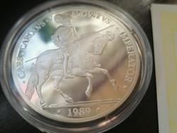 Spanyolország Ezüst 5 ecu 19892 PP  + Certifikáció + tájékoztató
