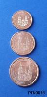 Spanyolország 1/2/5 cent (BU) EF