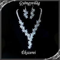 Esküvői, menyasszonyi, alkalmi ékszer szett, SSZEB-GY02 crystal ab