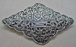 Csodás antik filigrán masszív ezüst bross