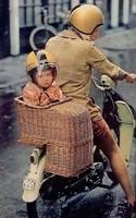 RITKASÁG !!! Antik 1940 veterán motor kerékpár gyerek ülés kosár ülés