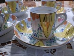 Kézi festett porcelán kávés csészék