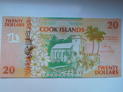 Cook-szigetek 20 dollár 1992 UNC  Ritka!