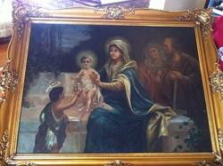 Biblia jelenet, olajvászon festmény