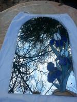 Fali tükör Tiffany technikával díszes