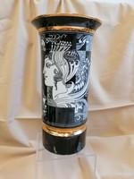Hibátlan, 1.osztályú,  Szász Endre váza, 30 cm magas
