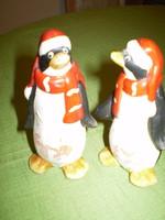 2 db. kerámia pingvin 12x6 cm. egyben
