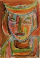 Németh Miklós: Kalapos nő, 1991