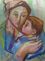Józsa János festőművész Anyaság