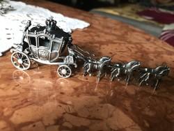 Ezüst barokk hat Lovas hintó gyűjtői szépség.