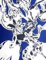 Sütő Éva: Ábrándozás (kollázs-papír) 70x50 cm