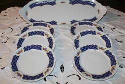 Zsolnay Marie Antoinette süteményes készlet