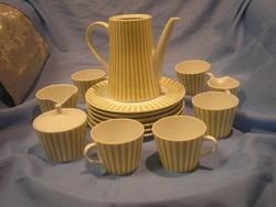 N17 Antik teás/kávés készlet 16 db-os Germany melitta sorozatból eladó