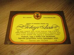 Tokaji Aszú boros címke , speciális  , névre kitölthető  ,  13 x 8,5 cm , öntapadós