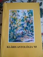Kláris antológia, 2003, versek, grafikák, alkudható!